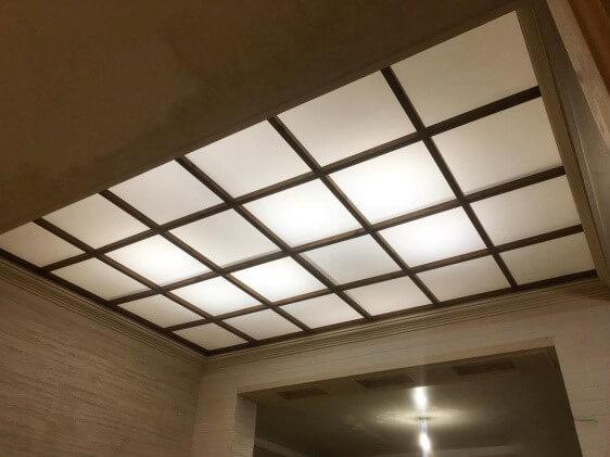سقف کاذب از نوع طلق یا پلکسی گلس