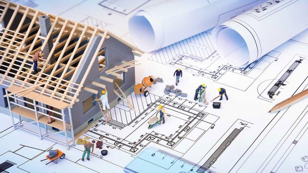 شکل 1. انجام عملیات ساختمانی