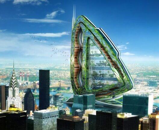 معماری ساختمان سنجاقک در آمریکا از نوع زیست فنی می باشد.