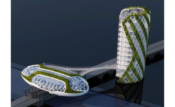 معماری ساختمان بدون دود از نوع معماری ارگانیک می باشد