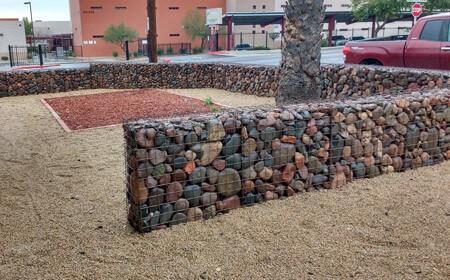 استفاده از دیوار گابیونی در نمای بیرونی ساختمان