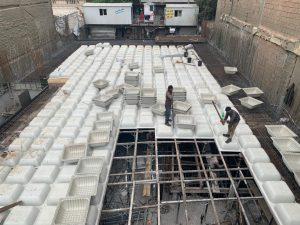 اجرای طرح سقف وافل